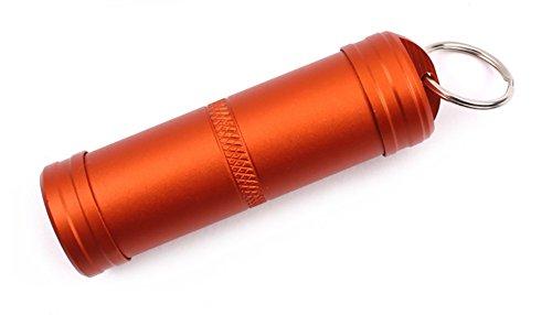 ZENDY Les canettes en Aluminium pour Garder Chose Importante, comprimé, Pilule, la médecine, Les Outils Capsule de Sauvetage pour Urgence Survie en Plein air équipement étanche Bouteille (Orange-L)
