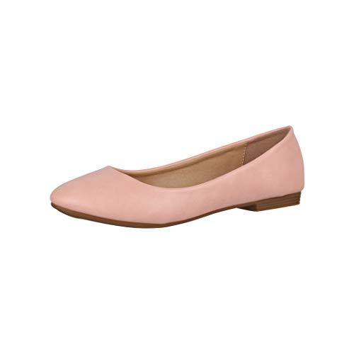 Elara Damen Ballerina Bequeme Slip Ons Flach Chunkyrayan P B3039 Pink 42