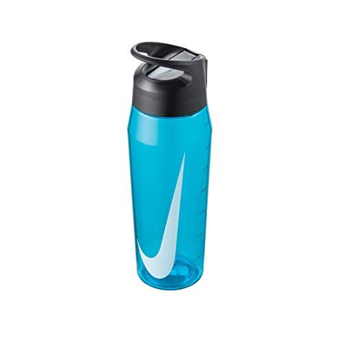 Nike Botella de agua TR HYPERCHARGE para adultos, color azul, gris antracita, blanco, 946 ml