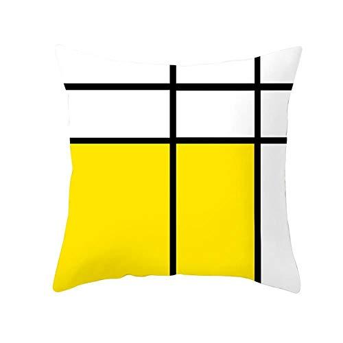 Miwaimao Funda de cojín para el hogar, funda de almohada para sofá, 13,45 x 45 cm (sin incluir el núcleo)