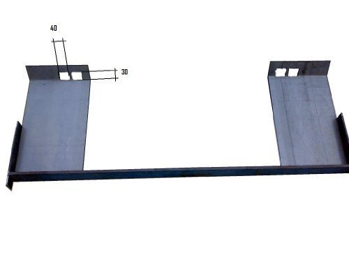 Koppelplatten für Bobcat Radlader als Bausatz Koppelhaken, Anschweißkonsolen