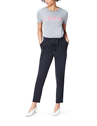 Marca Amazon - find. Pantalones de Pinzas para Mujer