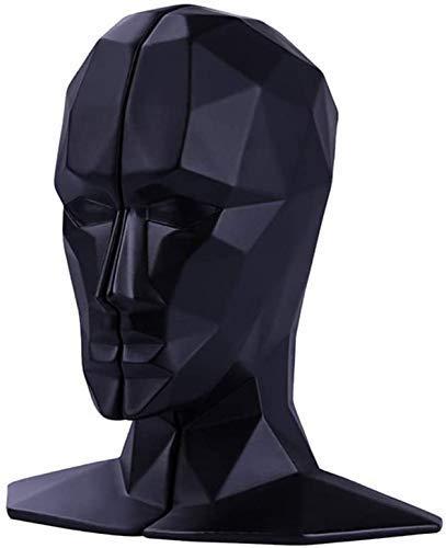 TKYZYY Escultura de Resina Abstracta Adornos de Puesto de Libro Figuras de imitación Estatua Artesanía de decoración del hogar, Negro