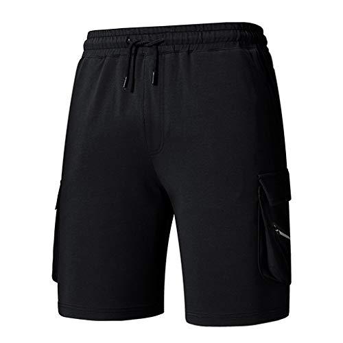 BYSTE_Uomo Attrezzature per arbitri e Allenatori,Pantaloncini da Ciclismo,Pantaloni Uomo Jeans Slim,Nero,M