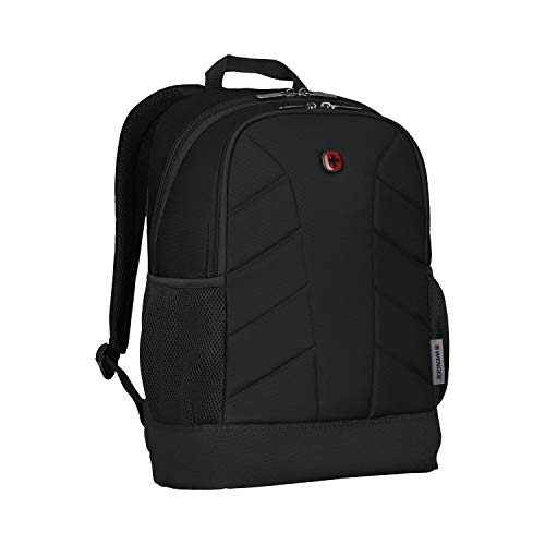 WENGER 610202 QUADMA 16' Zaino imbottito per laptop con tasche laterali in rete, nero {22 litri}