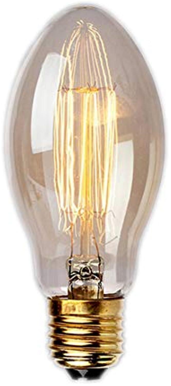YUN Light Bulb@ E27 Edison Glühbirne, E27 Vintage Antike Kerzenbirne Lampe (Warmwei 40W 2200K Amber Glas) Dekorative Glühbirne Ideal Für Nostalgie Und Retro Beleuchtung, Modell  BT75 (Menge  10)