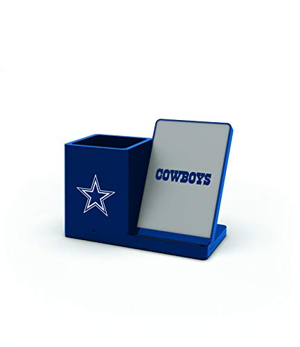 NFL Dallas Cowboys Wireless Charger and Desktop Organizer, Team Color