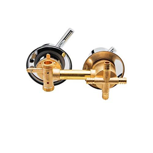 AFRUDDR 2/3/4/5 Way 10/12.5/14.5cm Control del interruptor de la ducha Grifos de latón para la ducha Mezclador Accesorios de la cabina de la ducha Desviador de la ducha, 4 vías 12.5 minutos