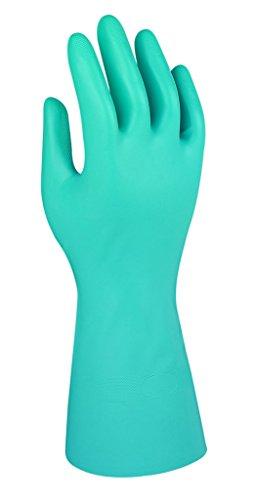 Comasec & Marigold Ansell Green Nitrile G26G / 7.5 Nitril handschuh, Chemikalien und Flüssigkeitsschutz, Größe 7,5, Grün (12 Paar pro Beutel)
