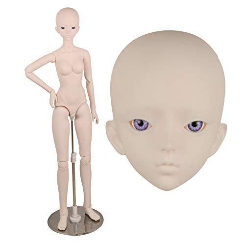 "EVA BJD 1/3 BJD Doll 18 Jointed Doll 63cm 18.9"" 24.8n for Collect DIY Dolls (Purple Eyes)"