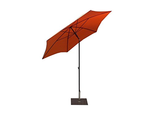 Maffei Art 135/6 Kronos Parasol Redondo de diámetro cm 250, poliéster PolyMa. Fabricado en Italia. Color Naranja.