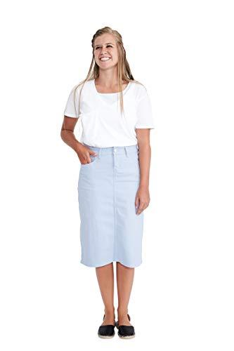 """Inherit 26"""" Remi Tiffany Blue Midi Skirt"""