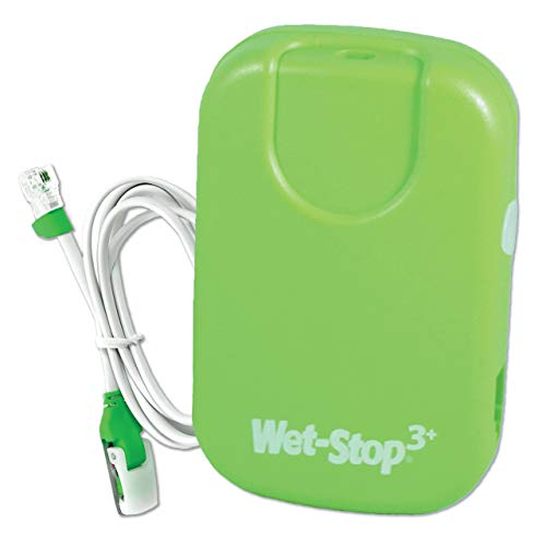 Wet-Stop3 Green Bedwetting Enuresis Alarm with Sound and Vibration Bed Monitor For Bedwetters: Potty Training Children and Kids: Bed Wetting Alarm For Boys or Girls Proven Solutions For Nocturnal Enuresis Alarm System, Curing Bedwetting For Over 35 Years