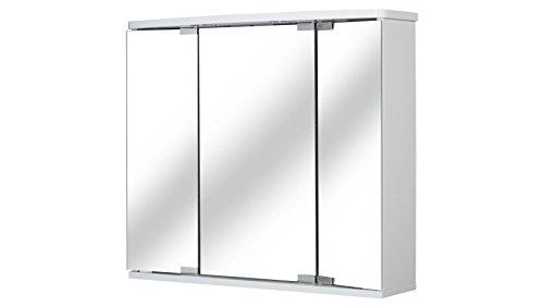 Jokey, Funa, armadio con specchio a LED, di colore bianco