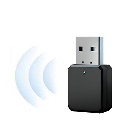NMD&LR Adaptador Bluetooth, Transmisor Bluetooth Auxiliar De Audio Estéreo Inalámbrico para Automóvil USB 5.1, Adecuado para Altavoces/Auriculares/Audio Bluetooth, Etc, Plug and Play