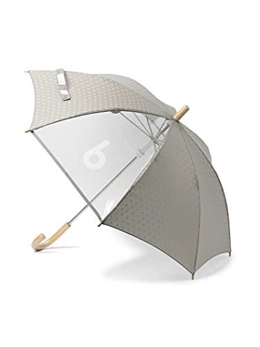おしゃれな子供グッズを多数扱う「こども ビームス」の子ども用傘です。透明窓にはビームスの「b」の文字がアクセントとしてプリント。スタイリッシュな雰囲気の傘に仕上がっています。  受け骨がアルミからグラスファイバーに変更になり、軽さと丈夫さもアップ!45cmと50cmの2サイズ展開。