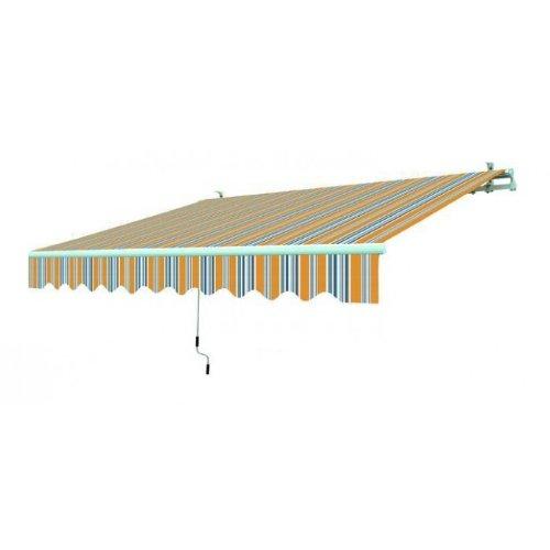 Blinky 9690814 Tenda da Sole Avvolgibile, 195x150 cm, Rigato Giallo