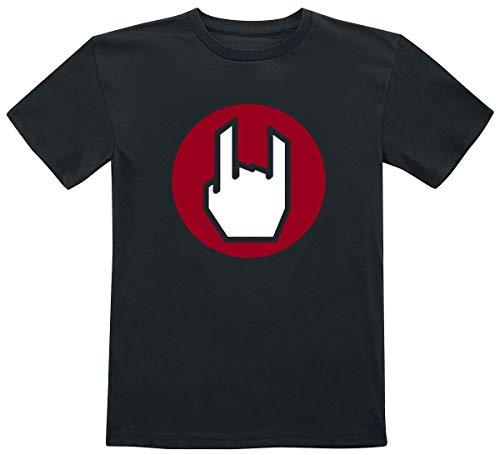 EMP Logo Pitillera Unisex Camiseta Negro 104, 100% algodón,