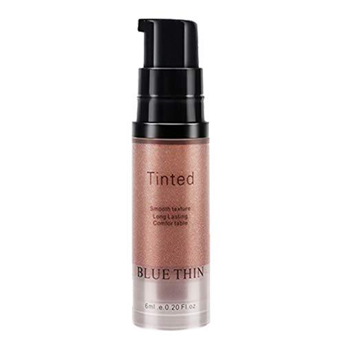 Fondation liquide,Fond de teint - Base de maquillage Nude - Correcteur de couvrance liquide BB creme,Brightener Glow Shimmer (rose or)