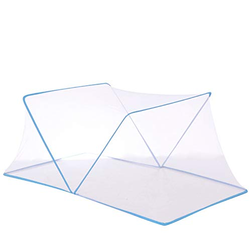 Anti Mosquito Nets,Foldable Portable For Double Beds Mosquito Protection,Fine Mesh,Breathable No Installation Required,For Home Or Outdoor Any Occasion,Blue-190 * 135 * 75cm
