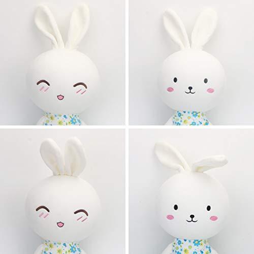 Conejo Peluches Conejo Muñeca de conejo Conejo astuto Conejito Almohada Muñeca de conejo blanco pequeño Cumpleaños lindo Un par (tenga en cuenta los emoticonos de color) Sentado 60 cm de altura