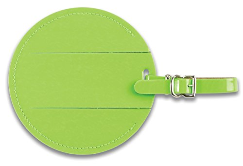 Lewis N Clark Round Neon Tag with Closed Security Flap, Green, One Size