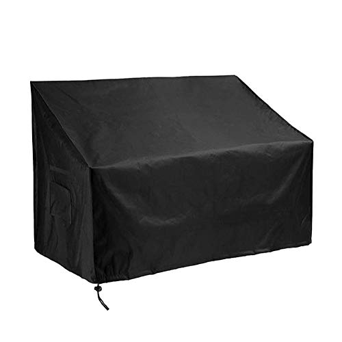 Yontree Garden Bench Cover, 2 Seater Patio Bench Love Seat Cover, Anti-UV & Waterproof Patio Rattan Furniture Protective Covers Rip Proof Lounge Deep Chair Cover