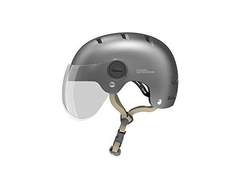 HIMO Skate-Helm, Fahrradhelm für Erwachsene, Verstellbarer Skateboard, Scooter Cycling Helmet Sports Safety Helmets with HD Lenses M/L- K1M, Grau