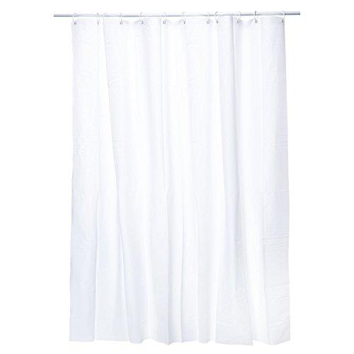 GOODS+GADGETS Weißer Duschvorhang PEVA | Badewanne Duschvorhang Anti-Schimmel PVC-frei und umweltfre&lich | Wannenvorhang 180x200 cm Badewannenvorhang weiß