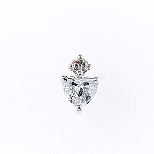 ラグジュアリーダイヤモンドペンダントヘッド 0.20ctUP & ピンクダイヤモンド0.03ctUP [18KWG] ハート 専用ケース付