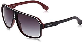 Carrera Men s CA1001/S Pilot Sunglasses Black White/Dark Gray Gradient 62 mm