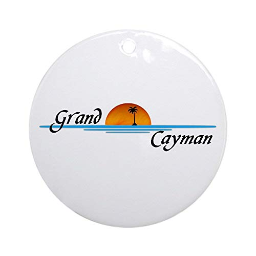 EaYanery Grand Cayman Sunset Ornament (Round) Personalized ceramic Holiday Christmas Ornament Ideas 2019