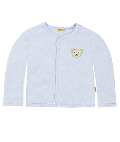Steiff Steiff Unisex - Baby Strickjacke 0002887 Babyjäckchen 1/1 Arm, Einfarbig, Gr. 74, Blau (Steiff Baby Blue)