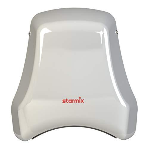 Starmix Vandalen-Händetrockner weiß pulver-beschichtetes Stahlgehäuse