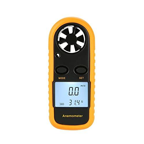 Timetided GM816 Anem¨Metro Digital Term¨Metro Velocidad del Aire Velocidad del Aire Medidor de Temperatura del Flujo de Aire Medidor de Viento con retroiluminaci¨n LCD