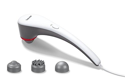 Beurer MG 55 Klopf-Massagegerät, Zur Lockerung und Entspannung der Muskulatur, Wärmefunktion, Intensität einstellbar, 3 Aufsätze, Massagegerät für Nacken, Rücken, Beine