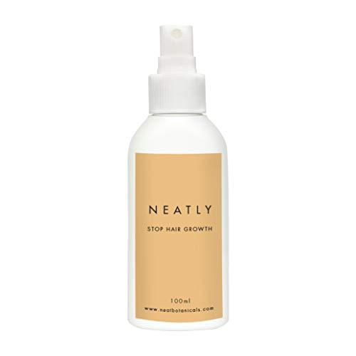 Haarwachstum verlangsamen mit NEATLY I Stoppt das Nachwachsen der Haare bei Frauen 100 ml spray I Alternative zu IPL Haarentferner, dauerhafte Haarentfernung und Wachsstreifen