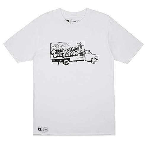 Zoo York Panel Truck T-Shirt, Bianco (White Wht), X-Large Uomo