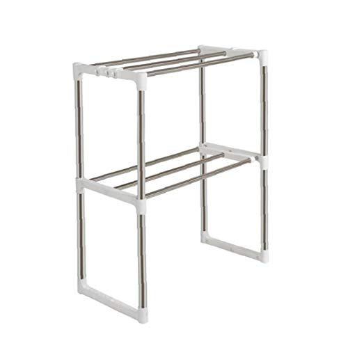 Kacniohen Küche Racks Edelstahl Lagerung Mikrowelle Regal-Rack Geeignet für Küche Badezimmer Büro 12