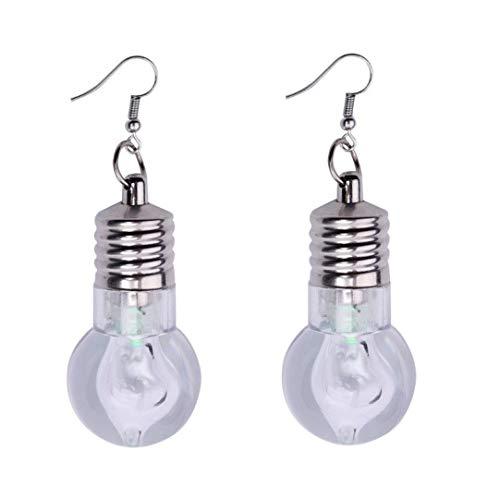 Carry stone 1 Paar Mode Frauen Leuchten Ohrring LED Blinkende Birne Ohrbügel Baumeln Schmuck Hohe Qualität