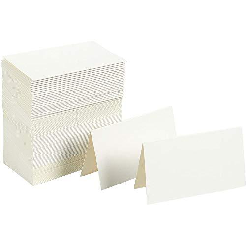 Best Paper Greetings Tarjetas del Lugar del Evento (100-pack) - Las pequeñas Tarjetas de la Tienda de Blanco - Ideal para Bodas, Banquetes, Eventos Especiales - 2 x 3,5 Pulgadas doblado ✅