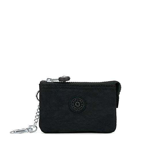 Kipling Mini Creativity Key Chain, Zip Closure, Lobster Clasp, black tonal