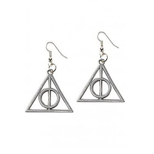 Orecchini a TRIANGOLO argentato simbolo de I DONI DE LA MORTE - Harry's MAGIC World