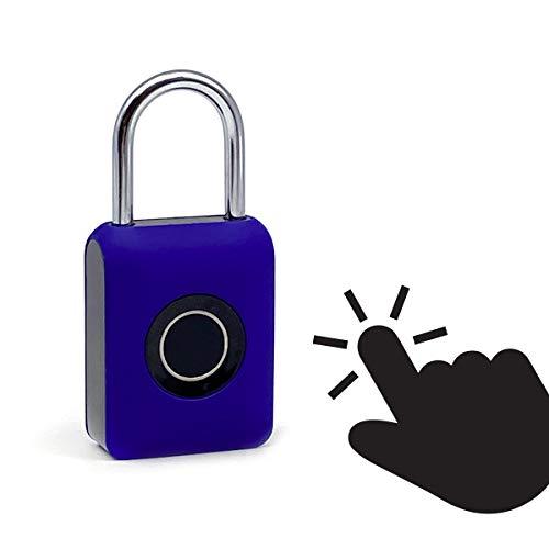 Guard Dog Security Fingerprint Padlock - Smart Lock Ideal for Bikes, Lockers and Luggage - Travel Lock - Blue