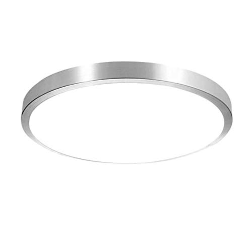 SGWH Plafondlamp, voor binnen en buiten, chroom, wit, modern design, kroonluchter, plafondlamp, kinderlamp, metalen spotlicht, directe verlichting, woonkamer, slaapkamer C
