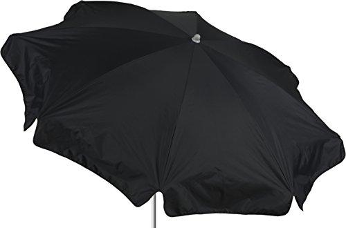 beo Sonnenschirme wasserabweisender, rund, Durchmesser 180 cm, anthrazit/schwarz