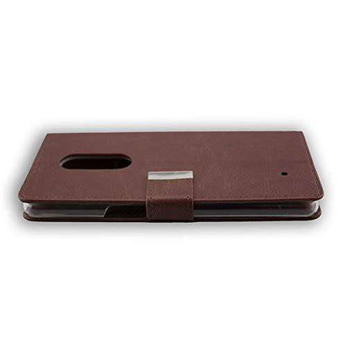 caseroxx Tasche für HP Elite X3 Bookstyle-Case in braun Hülle Buch