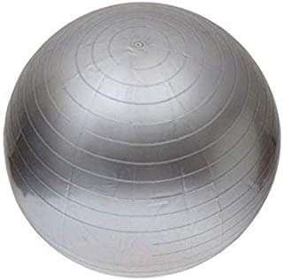 Silver Color Inflatable 75cm Exercise Ball Fitness Yoga Balance Training Sit-ups Gym Training MUFAENS