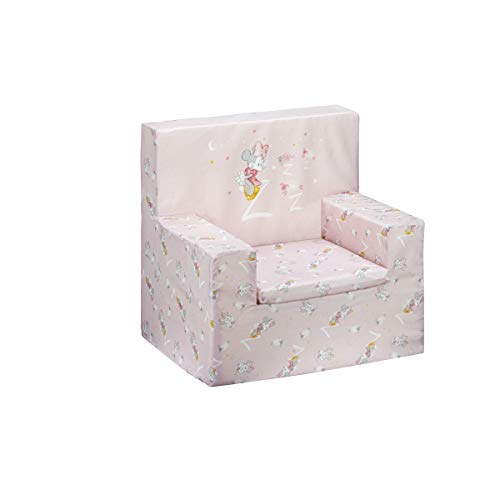 Interbaby - Sillón infantil Disney Minnie Mouse Rosa, Unica (MN001-02)