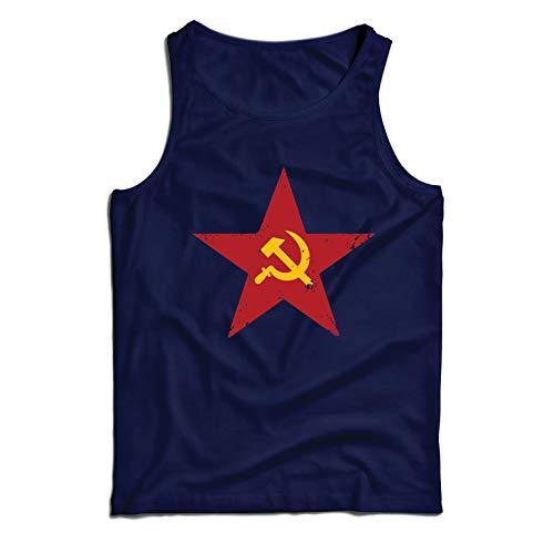 lepni.me Camisetas de Tirantes para Hombre URSS СССР La Hoz y el Martillo, símbolo del proletariado socialista (Large Azul Multicolor)